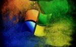 Обои Логотип ОС Windows на разноцветном фоне абстракции