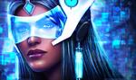 Обои Symmetra-Satya Vaswani / Симметра-Сатья Васвани из игры Overwatch / Дозор, by MagicnaAnavi