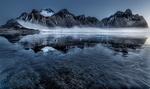 Обои Туман у подножья заснеженной горы, by Paul