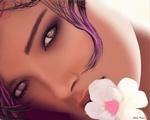 Обои Портрет красивой девушки с цветком, by Sheila Pereira