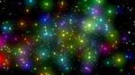 Обои Разноцветные звездочки в бликах на темном фоне