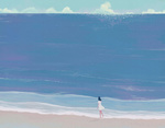 Обои Девушка на морском берегу, by MORNCOLOUR