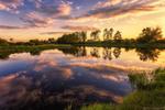 Обои Летний вечер на реке, фотограф Алексей Малыгин