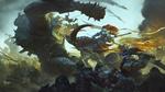 Обои Ms. Hammer / Госпожа Хаммер в бою против орков, by Bayard Wu