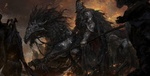 Обои Всадник смерти на черном коне, by Zhuoxin Ye