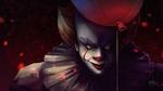Обои Танцующий клоун Пеннивайз / Pennywise с красным шариком из Оно / It