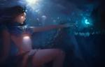 Обои Девушка под водой на фоне медуз, by Danny