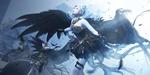 Обои Девушки-ангелы с черными крыльями
