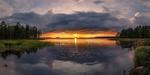 Обои Закат на реке / Солнце осени, фотограф Evalds Kivlenieks