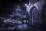Обои Исаакиевский собор зимней ночью, Санкт-Петербург, фотограф Сергей Рехов