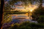 Обои Летний закат на реке, фотограф Алексей Малыгин