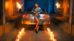 Обои Девушка в шортах позирует возле Nissan GT-R, фотограф Марков Александр