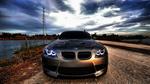 Обои BMW М3, Е92 под красивым сумрачным небом