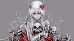 Обои Gasai Yuno / Юно Гасай в образе демона из аниме Mirai Nikki / Future Diary / Дневник Будущего