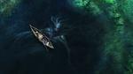 Обои Человек рыбачит с лодки, а со дна озера всплывает The Siren / Сирена, by Daniel Jimenez Villalba
