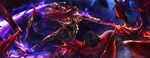 Обои Lancer / Лансер / Копейщик / Скатах / Scathach / Sukasaha из онлайн RPG игры Fate / Grand Order, by artoria