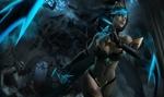 Обои Evelynn / Эвелинн в храме, арт к игре League of Legends / Лига Легенд, by Sangsoo Jeong