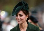 Обои Кейт Миддлтон / Catherine Middleton, герцогиня Кембриджская, в темно-зеленых шляпке и пальто