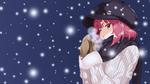 Обои Девушка под снегопадом в ночное время, by Dekodere