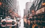 Обои Люди и автомобили на улице Чикаго / Chicago в США / USA