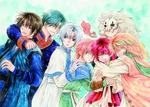 Обои Yona / Йона, Hak, Jae-ha, Kija, Shin-ah и Zeno из аниме Akatsuki no Yona / Рассвет Йоны