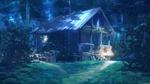 Обои Изба в лесу ночью, автор Arseniy Chebynkin