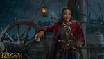 Обои Девушка-пират Mari Smith / Мэри Смит с попугаем стоит на палубе фрегата, арт к игре Black Sun / Корсары: Черная метка, by Edward Halmurzaev