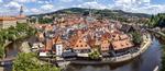 Обои Панорама города Сesky-Кrumlov, Czech Republic / Чески-Крумлов, Чехия, by Felix Mittermeier