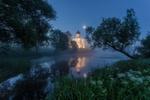 Обои Храм Покрова на Нерли в утренних сумерках, фотограф Пашеничев Александр