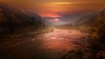 Обои Закат над рекой в горах, Austria / Австрия, фотограф Федоров Константин