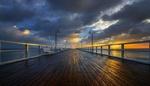 Обои Pier / Пирс в Baltic Sea / Балтийском море на закате, фотограф Jan Sieminski