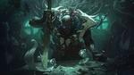 Обои Pyke: The Bloodharbor Ripper / Пайк: Потрошитель из Кровавой гавани, арт к игре League of Legends / Лига Легенд, by Victor Maury