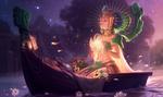 Обои Sun Goddess Karma / Богиня Солнца Карма, арт к игре League of Legends / Лига Легенд, by Jessica Oyhenart