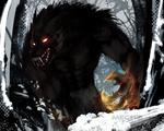 Обои Страшный голодный серый волк из сказки Красная шапочка