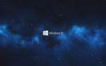 Обои Логотип Windows 10 на фоне ночного неба