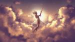 Обои Девушка в облаках под светом солнца (BEYOND / за пределами), by ImScrappY