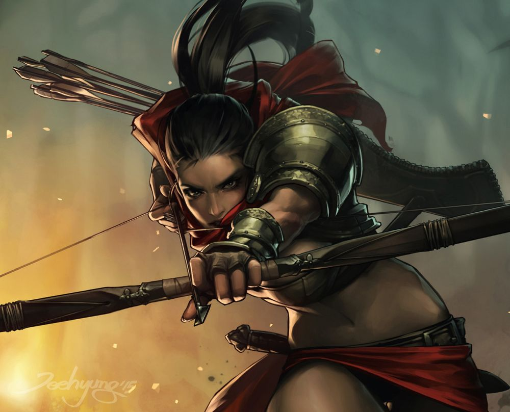 Обои для рабочего стола Lara Croft / Лара Крофт из комикса Tomb Raider / Расхитительница гробниц: Лара Крофт, by JeeHyung lee