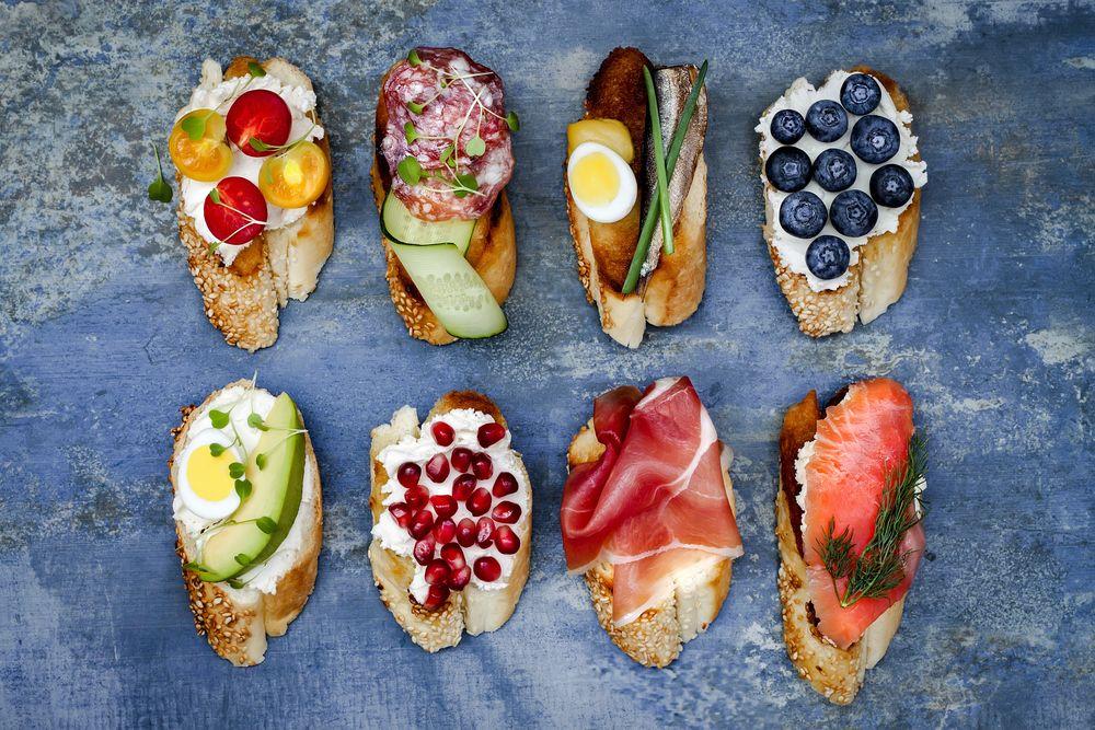 Бутерброды с гранатами