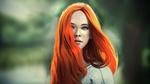 Обои Девушка с рыжими волосами, by Andy Gruning