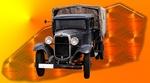 Обои Ретро грузовичок Форд / Ford на абстрактном фоне, by Emslichter