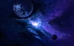 Обои Планеты и космическая туманность