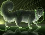 Обои Большой кот в наушниках, by EvgenijBorya