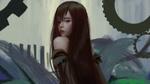Обои Девушка с длинными темными волосами вполоборота, by YDIYA