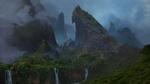 Обои Водопады в горах, окутанных туманом, графика из консольной игры Uncharted 4: A Thief's End