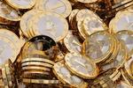 Обои Много монет биткоина, криптовалюта