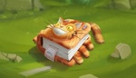 Обои Котобус из аниме Мой сосед Тоторо / My Neighbor Totoro в виде блокнота, между страниц которого лежит билет, by Виталий Латыпов