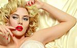 Обои Актриса Scarlett Johansson / Скарлетт Йоханссон в образе Marilyn Monroe / Мэрилин Монро, фотограф David Gandy