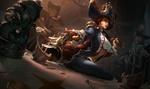 Обои Miss Fortune / Мисс Фортуна среди пиратов, арт к игре League of Legends / Лига Легенд, by Jennifer Wuestling