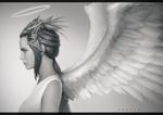 Обои Девушка-ангел, by Nick Gan