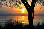 Обои Закат на пляже Dugit Beach, Sea of Galilee, Israel / Дугит, Галилейское море, Израиль, by ITG photography
